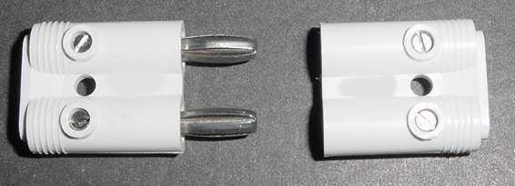 Two Wire Connector White - Alarm Foil Connector